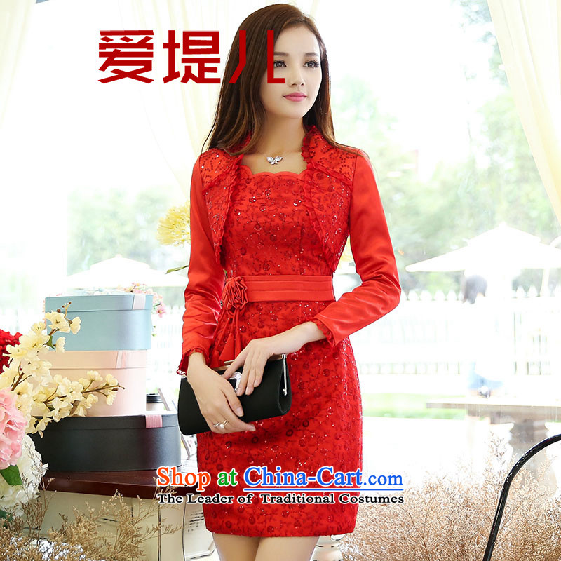 �   2015 Autumn Love embankment-female new Korean lace dresses two kits�XXXL color picture
