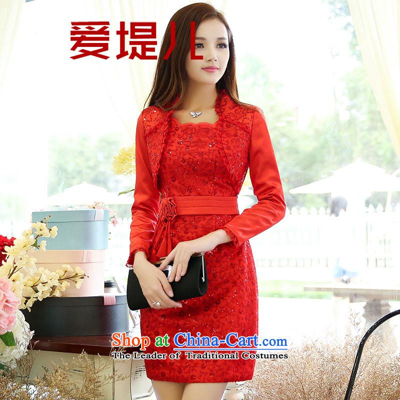 2015 Autumn Love embankment-female new Korean lace dresses two kitsXXXL color picture
