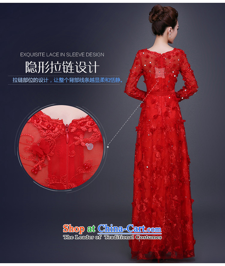 Beverly Ting bows Service Bridal Fashion new autumn 2015 Red Winter wedding dress female betrothal evening dresses long red L picture, prices, brand platters! The elections are supplied in the national character of distribution, so action, buy now enjoy more preferential! As soon as possible.