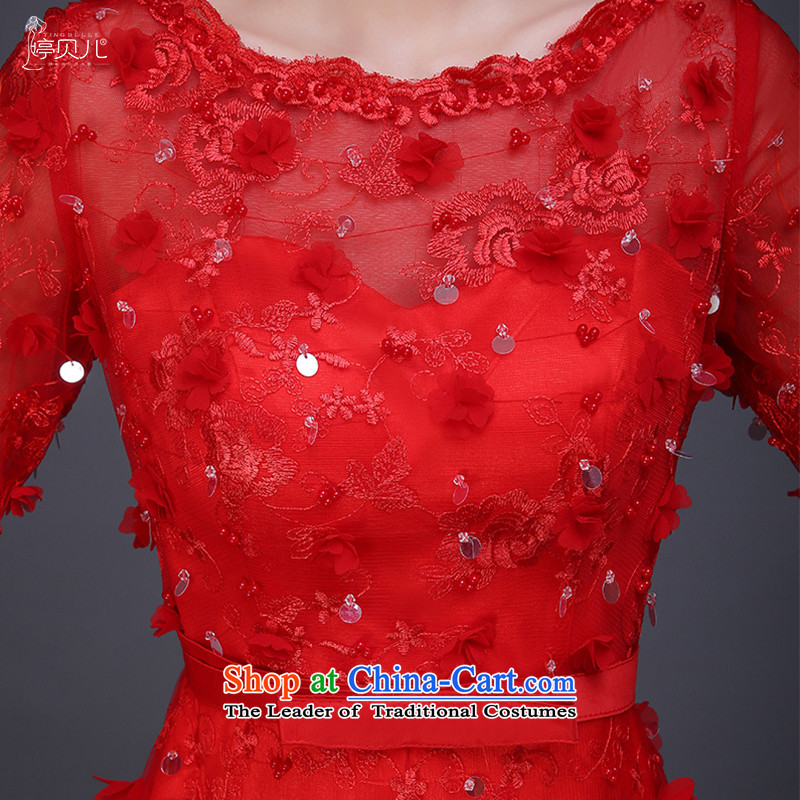 Beverly Ting bows Service Bridal Fashion new autumn 2015 Red Winter wedding dress female betrothal evening dresses long red , L, Beverly (tingbeier ting) , , , shopping on the Internet