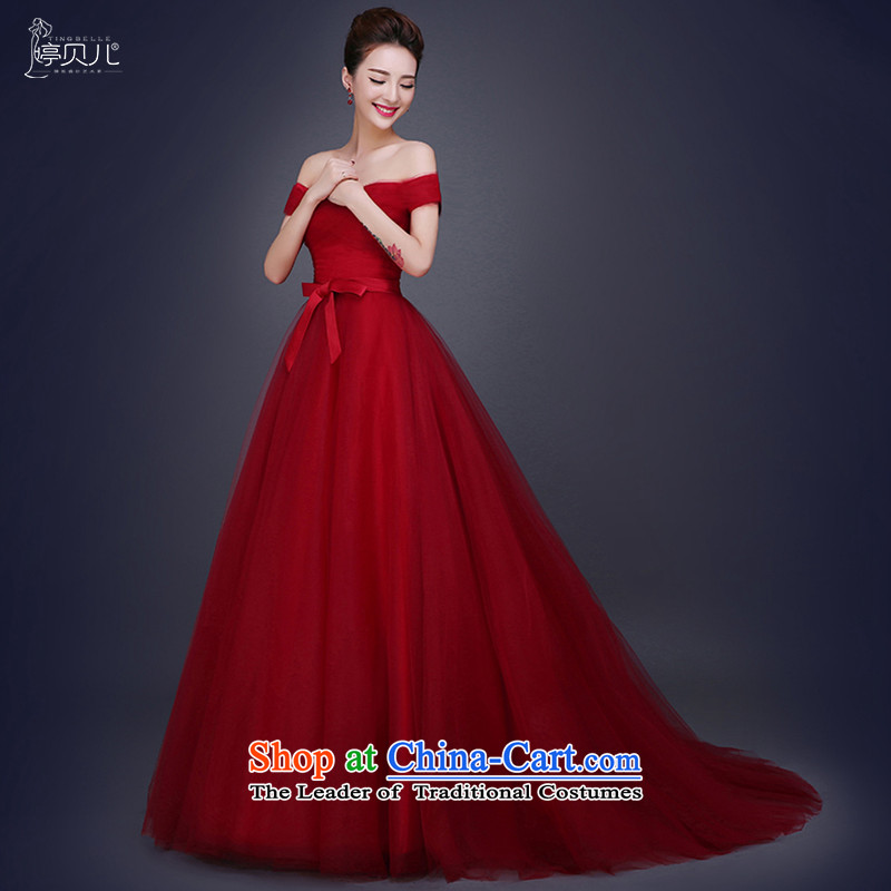Beverly Ting 2015 Autumn new small red tail wedding dress bride Korean word   shoulder wedding v-neck to align the red tail of tailored please contact Customer Service