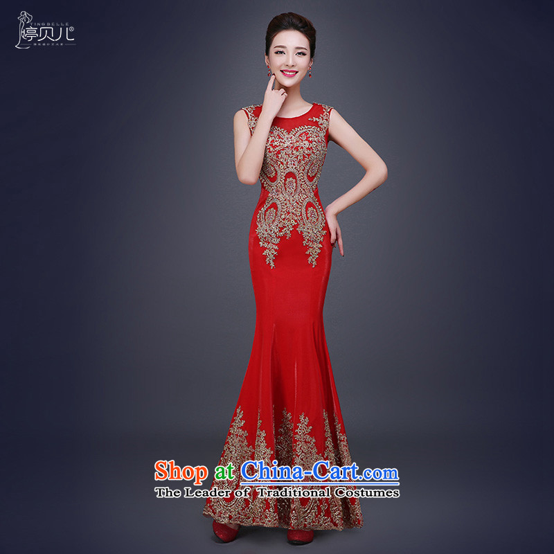 Beverly Ting 2015 new bride red autumn wedding dress stylish crowsfoot wedding Sau San long winter evening dresses red tailored please contact Customer Service