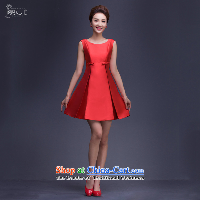 2015 new bride bows services fall pregnant women with short, red wedding dress female winter Top Loin of thin red dress video?M