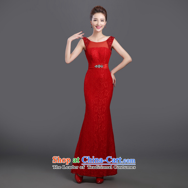 Toasting champagne bride services 2015 new autumn and winter red married long betrothal evening dresses dinner Chairman skirt bridesmaid red?m