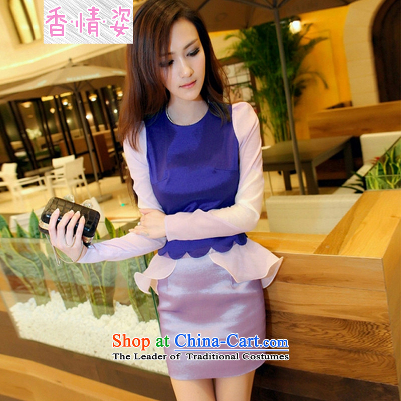 The Champs Elysees Beauty of autumn and winter 2015 OSCE root yarn spell package and dress photo color color?S