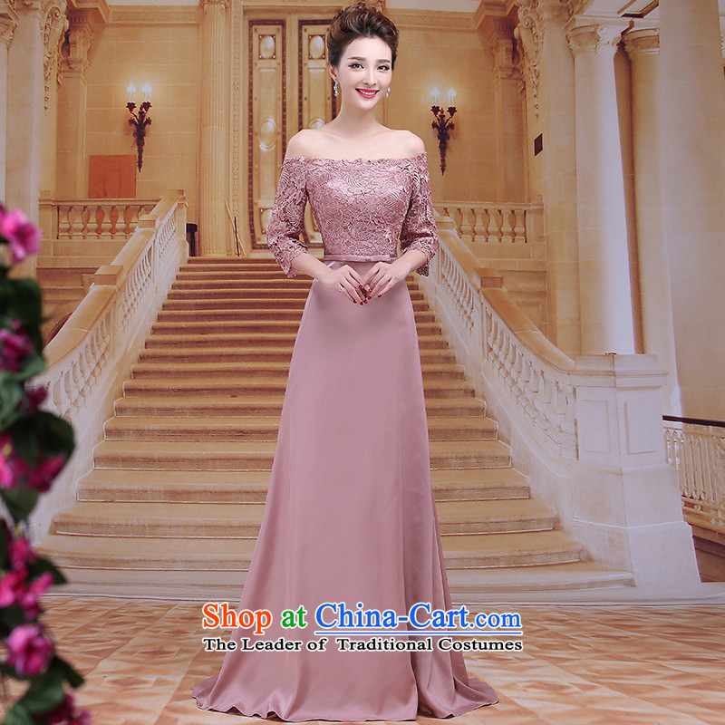 Tim hates makeup and evening dresses winter marriages bows services wedding dresses long marriage mother dress bridal dresses evening dresses dinner dress LF028 under the auspices of the usual zongzi color?XL