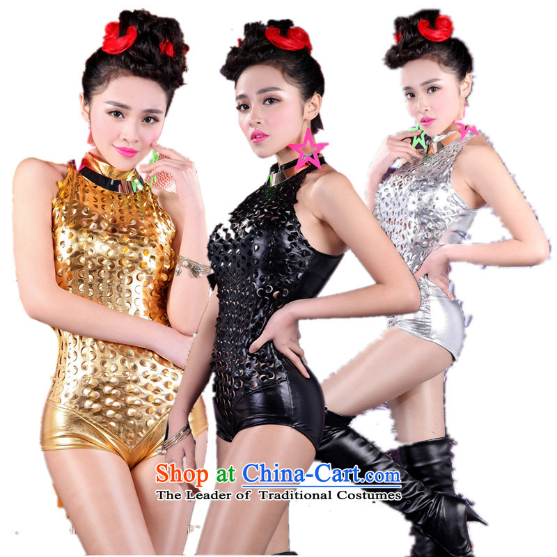 The 2015 New sexy engraving-clothing nightclubs bar ds will serve people DJ6 female singer jazz dance service silver-yi silver?S
