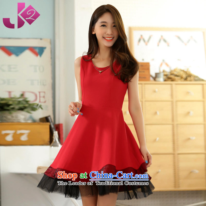 Jk2?Fourth quarter wild elegant round-neck collar large dresses XL gathering show bridesmaid small dress code recommendations are red skirt around 922.747 105