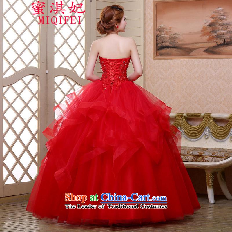 Honey Qi princess ofautumn and winter 2015 new festive red bon bon skirt wedding dresses marriages long gauze wedding dress their childrens books red, honey Qi Princess MIQIFEI) , , , shopping on the Internet