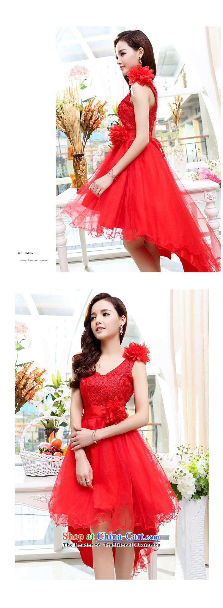 Upscale dress large red wedding dresses etiquette dress single shoulder strap lace bon bon skirt long tail princess skirt 2015 Summer New Red XL Photo, prices, brand platters! The elections are supplied in the national character of distribution, so action, buy now enjoy more preferential! As soon as possible.