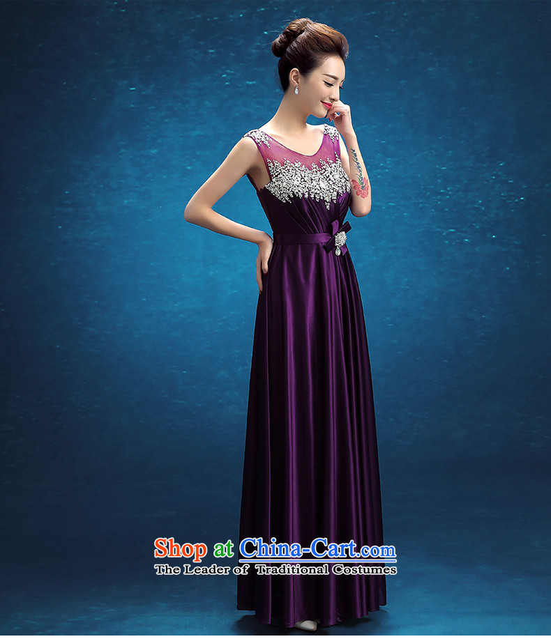 Embroidered brides is 2015 autumn and winter new Korean version of Word will shoulder the bride banquet evening dresses purple S Suzhou shipment picture, prices, brand platters! The elections are supplied in the national character of distribution, so action, buy now enjoy more preferential! As soon as possible.