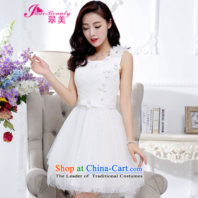 The Hong Kong 2015 Autumn dress new stylish temperament dress evening dresses back door onto female white?L