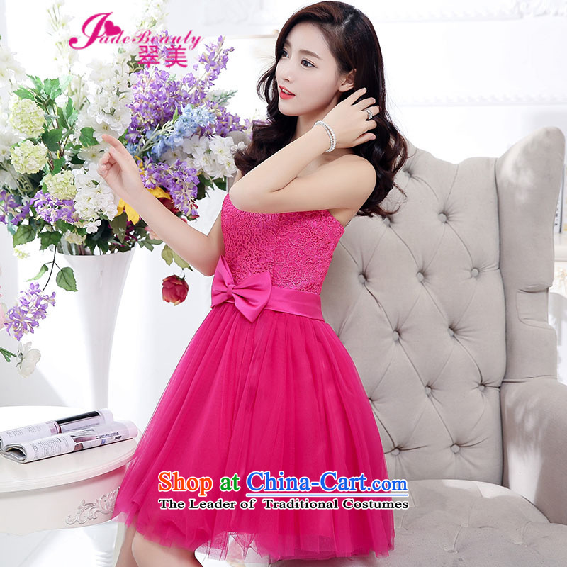 The Hong Kong dress 2015 autumn and winter gatherings in stylish long bon bon skirt high pure colors in the waist skirt back door onto the girl in the Red M