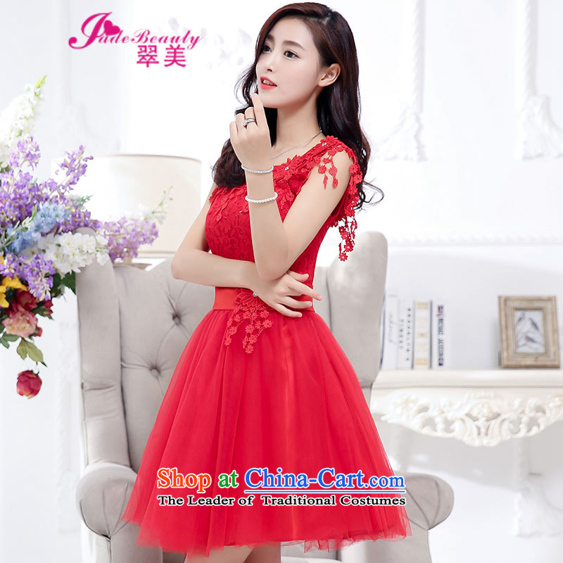 The Hong Kong 2015 autumn and winter evening dress bride wedding dress red bows to large service bridesmaid long-sleeved blouses and red?M