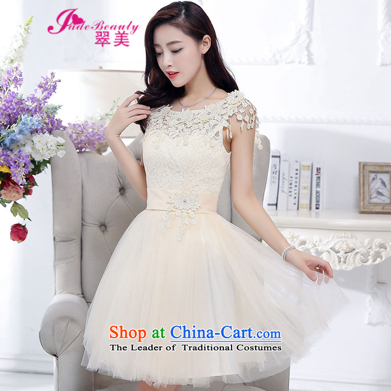 The Hong Kong 2015 autumn and winter evening dress bride wedding dress red bows to large service bridesmaid long-sleeved blouses and rice white?S
