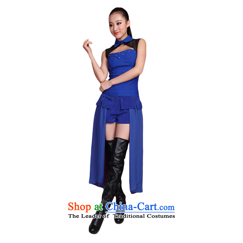 The 2015 New Western dance night service DS costumes singer service female jazz dance dance night service pipe mount sexy DS will dance wearing blue�S
