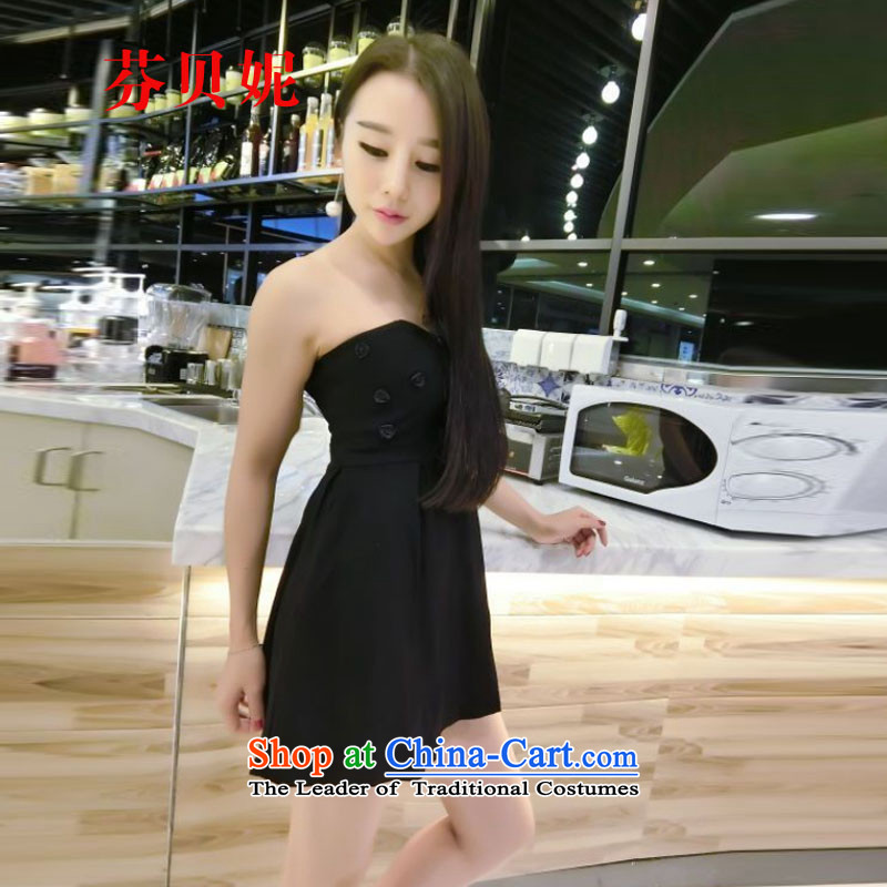 Leung Pui Connie autumn 2015 load sense of wiping the chest little flowers adorn dress dress uniform bridesmaid Z8998 black are code
