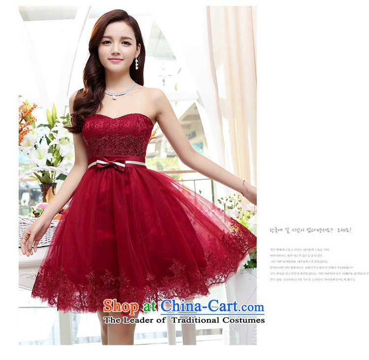 Upscale dress wiping the chest dresses dress Summer 2015 new wrapped chest lace bon bon skirt bridesmaid princess skirt banquet wedding-dress wine red M picture, prices, brand platters! The elections are supplied in the national character of distribution, so action, buy now enjoy more preferential! As soon as possible.