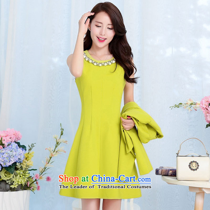 2015 Autumn and Winter Ms. new large red two kits bridal dresses evening dresses temperament Sau San video thin bride skirt Princess Bride stylish bows services Skirts 1 Qiu Xiang green XL