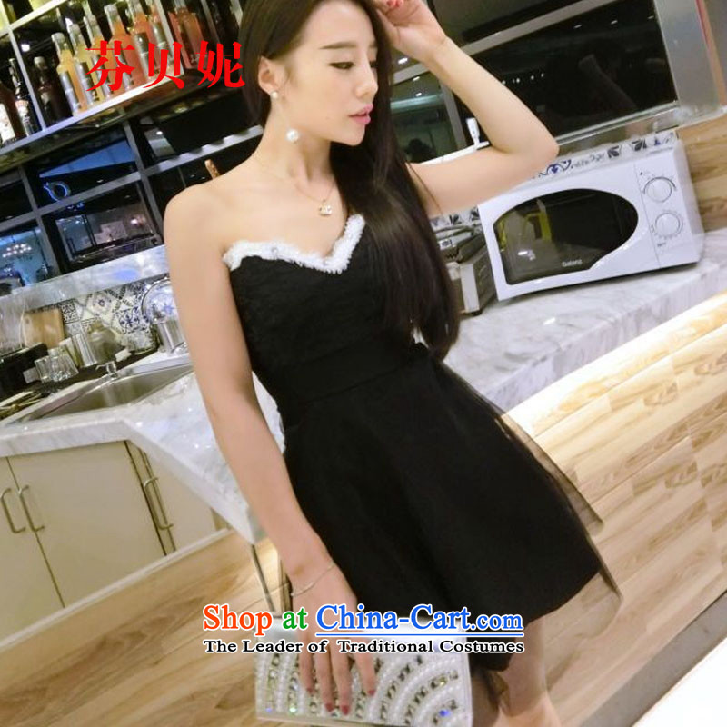 Leung Pui Connie autumn 2015 replacing sexy nightclubs dress bon bon skirts and chest evening dresses bridesmaid Z8985 services will black