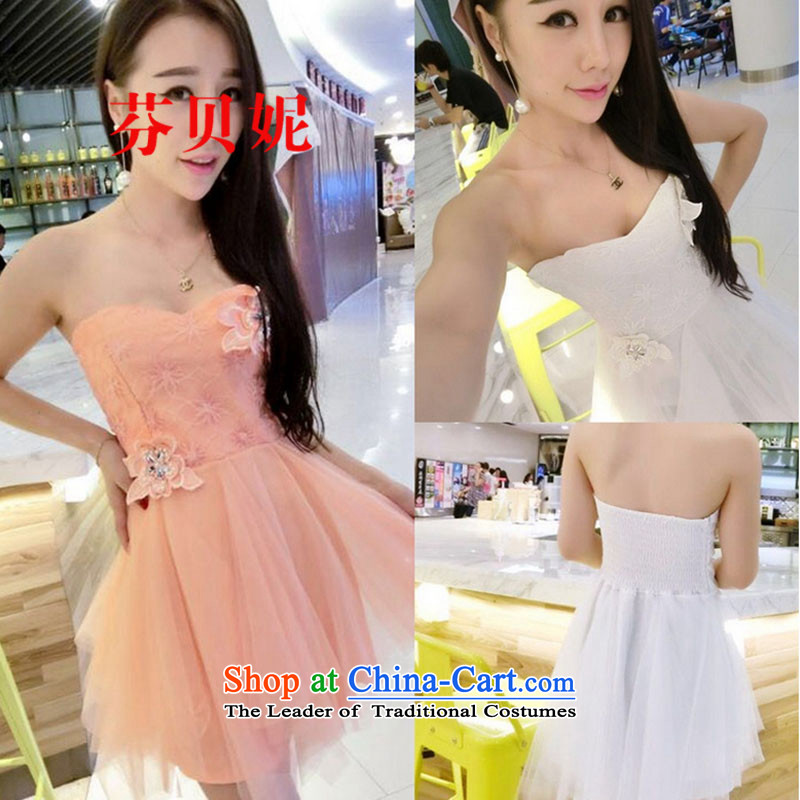 Leung Pui Connie 2015 Autumn Night Clubs, new Western sexy Chest Flower large bon bon small dress wiping the chest skirt dresses F9611 white are code