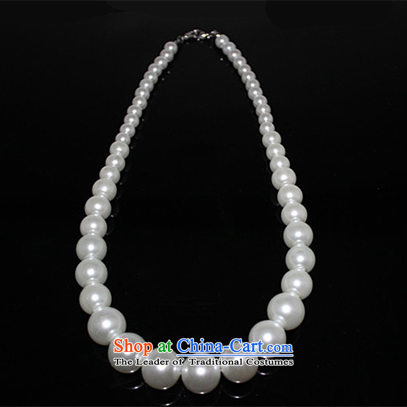 As brides on accessories minimalist pearl necklaces married Korean style wedding dinner Dress Ornaments wedding winter_ Accessories Red