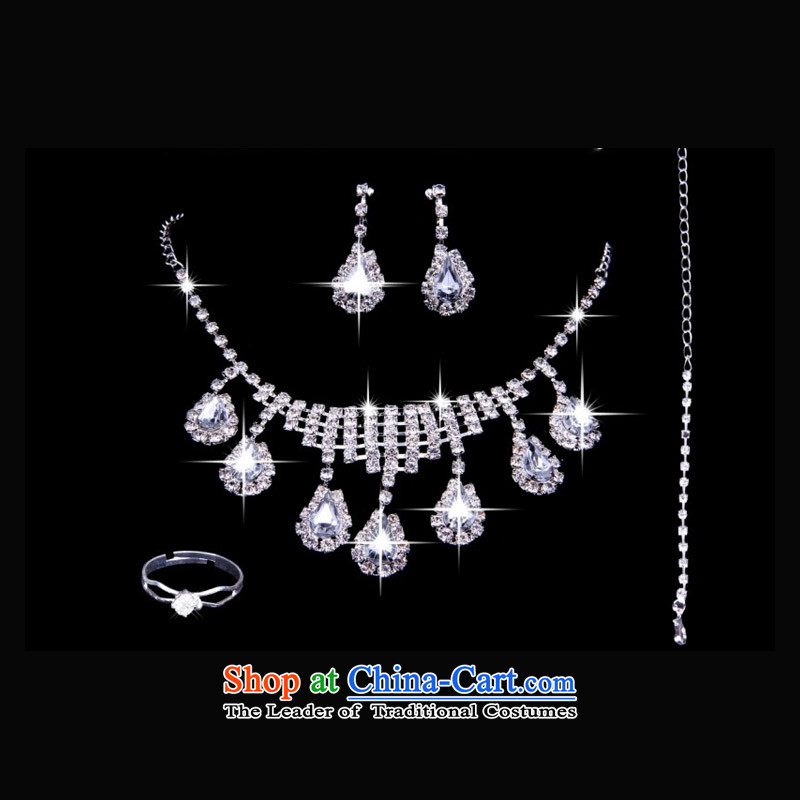 As brides on ornaments three kit necklace earrings, bracelets wedding dresses Jewelry marry rings yarn accessories ( A)