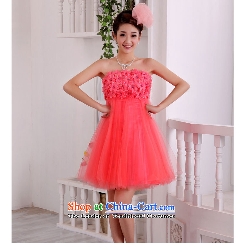 The following new paragraph on 2015 bridesmaid dress red anointed breast height waist short of married women serving evening drink pink L