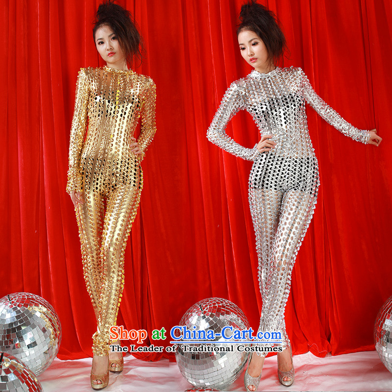 The 2015 New engraving sexy body yi ds will singer stage with modern jazz dance wearing nightclubs and sexy gauze light drill-yi, speech will gold dance and shopping on the Internet has been pressed.