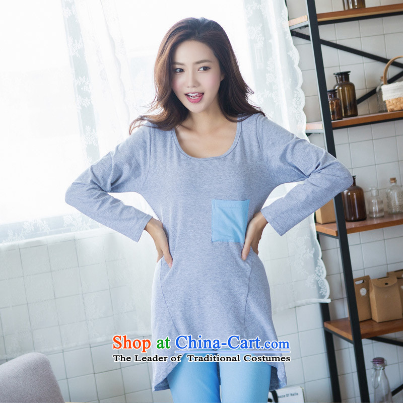 Orange Tysan * autumn long-sleeved Korean leisure new home service cartoon Ms. letter kit�CX613 picture color�XL