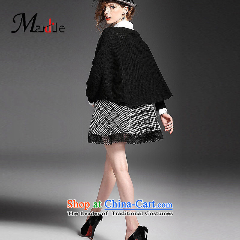 Maria di America� 2015 MARDILE new shirt collar Knitted Shirt kit skirt two kits, stylish skirts picture color�S