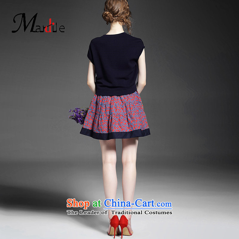 Maria di America�2015 MARDILE new hip trendy fashion round-neck collar wild short-sleeved Leisure Comfort Women skirt autumn replacing skirts pink�XL