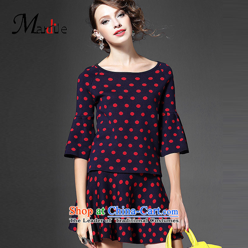 Maria di America� 2015 MARDILE new autumn sweet t-shirt horn cuff half stamp skirt hip trendy fashion color photo of female�M