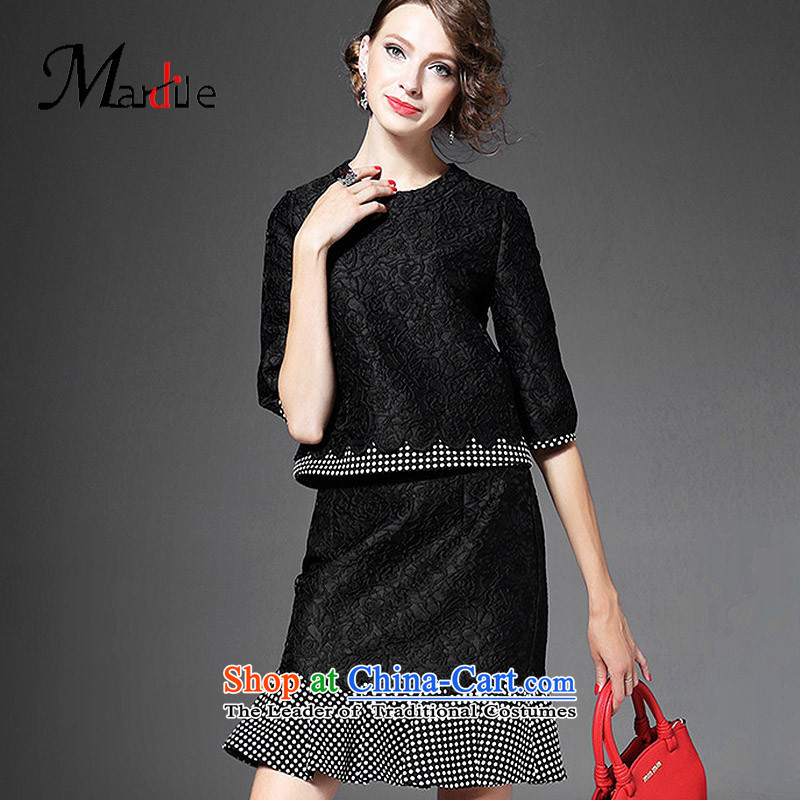Maria di America�2015 MARDILE new president and sexy autumn billowy flounces half skirt autumn replacing jacquard shirt color picture trend�L