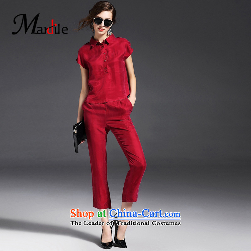 Maria di America� 2015 MARDILE new trendy temperament smart casual Sau San Kit two kits female red�L