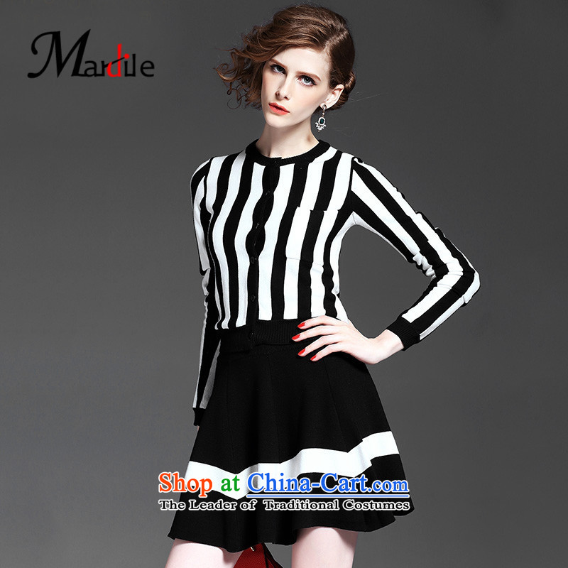 Maria di America� 2015 MARDILE autumn and winter new women's western style banding Kit Sau San skirts knitting short skirt black�M