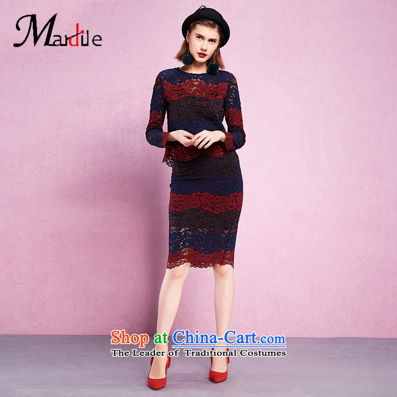 Maria di America? 2015 MARDILE autumn and winter in long-sleeved skirt kit fluoroscopy wild beauty video thin two kits picture color?S