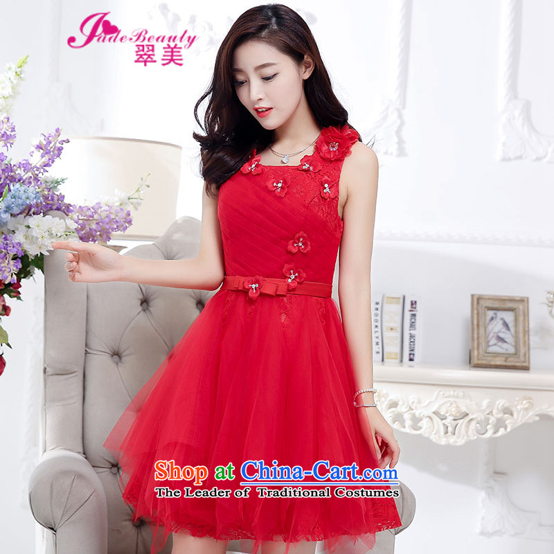 The Hong Kong 2015 Autumn dress new stylish temperament dress evening dresses back door onto female red�XL