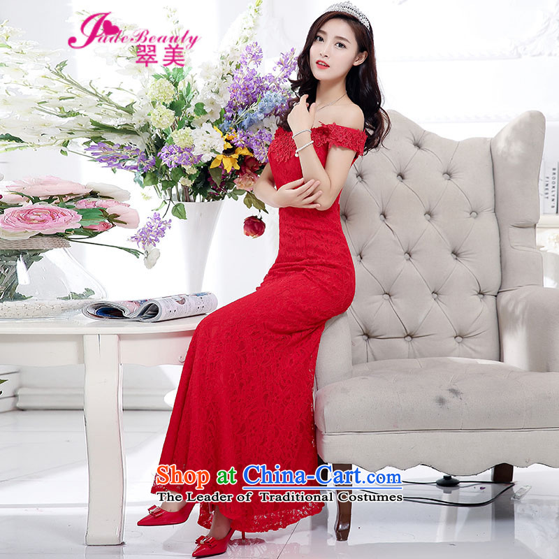 The Hong Kong evening dresses new bows services 2015 bride bridesmaid to service a field for long bridesmaid services under the auspices of evening dresses red�S