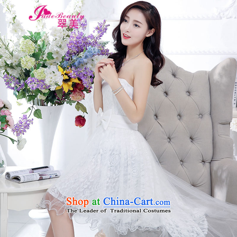 The Hong Kong dress 2015 autumn and winter married women dress dovetail skirt bon bon dresses female white?S