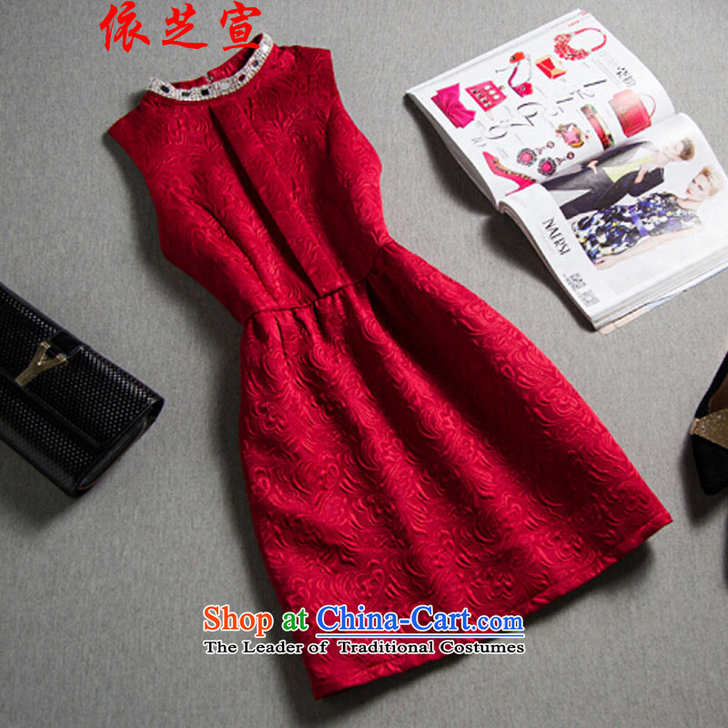 In accordance with the declared Chi Fall/Winter Collections European site bridesmaid skirt small Heung-hm jacquard forming the OL dress skirt dresses package and thick wine red�L