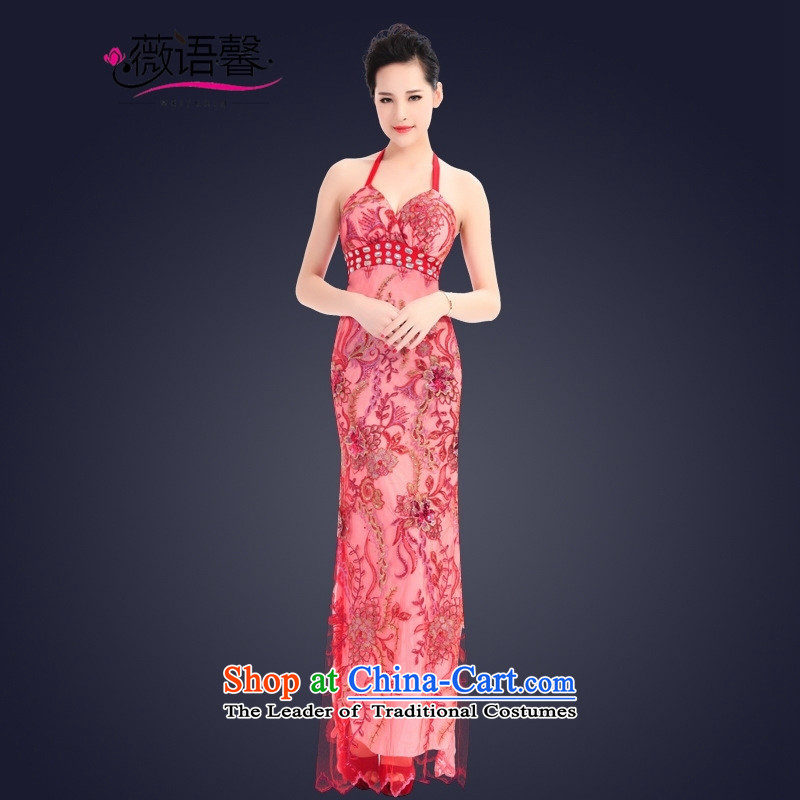 Optimize fruit shop 2015 Spring bell new sexy will dress long evening dresses Sau San female brown聽XS