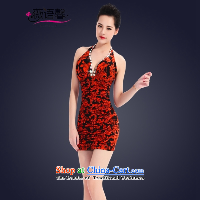 Optimize fruit shop 2015 Summer bell sexy new women's dresses evening dress short skirt hotel dinner dress in red bows聽XL, Ms Audrey EU, Xin (WEIYUXIN) , , , shopping on the Internet