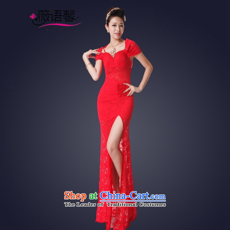 Optimize fruit shop 2015 Summer bell sexy women's dresses long lace banquet dress will raise the聽S