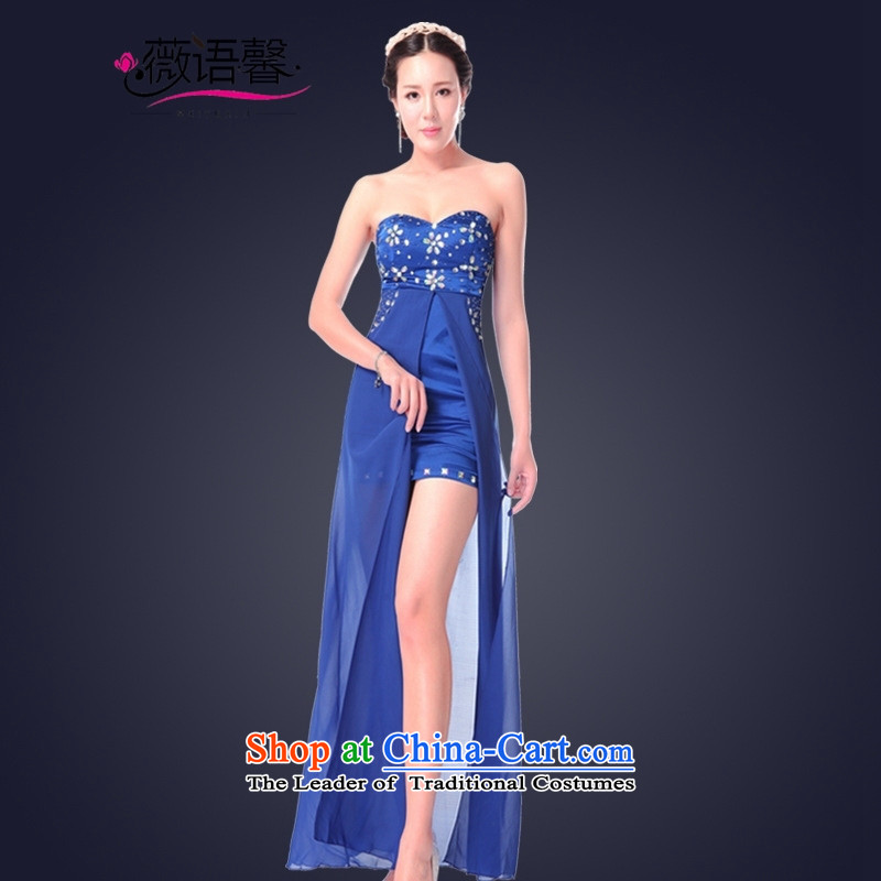 Optimize fruit shop 2015 Summer wiped bell scoops female dresses long banquet dress will back black聽S