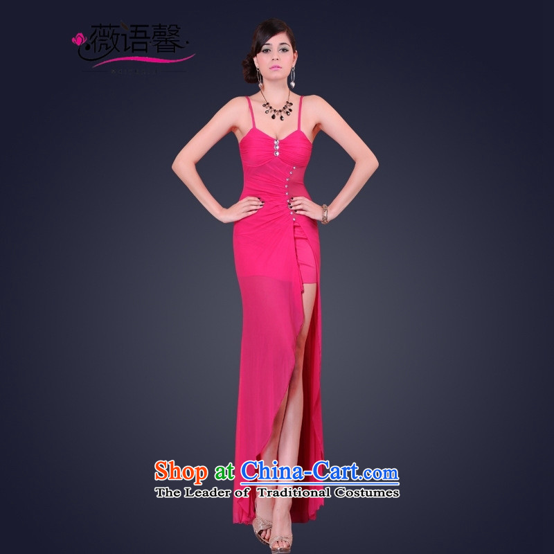 Optimize fruit shop 2015 Summer bell sexy female dresses long banquet dinner dress will back video thin package and Sau San by red聽L