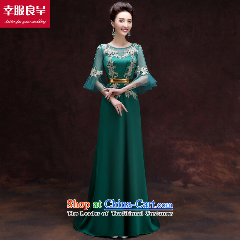 The privilege of serving-leung evening dresses 2015 Ms. New banquet Toastmaster of dress long stylish bridesmaid dresses skirt girl��greeen service�S