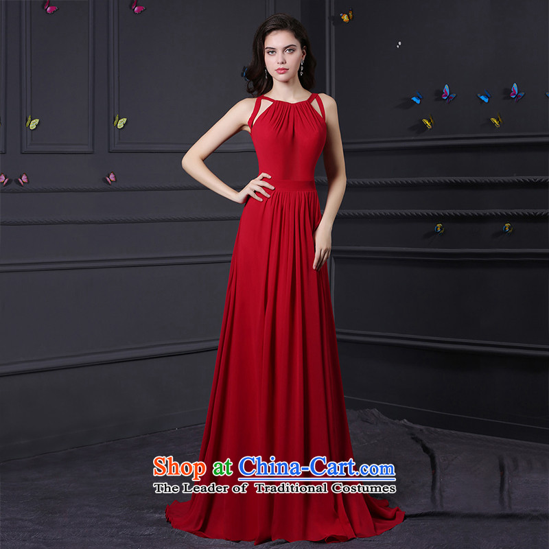 Custom dresses dressilyme 2015 new chiffon hanging strap in the history of the waist version A back on the evening dresses reception wedding services custom color bows tailored