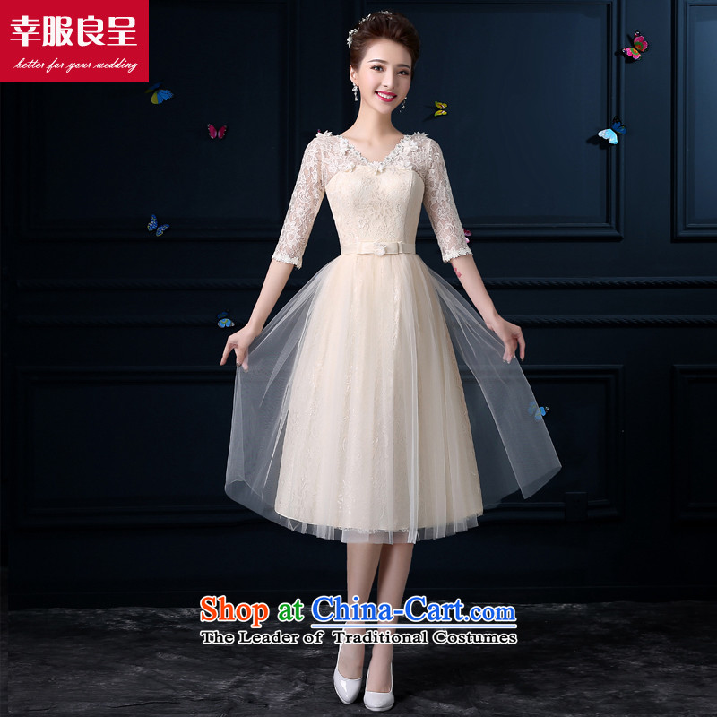The privilege of serving-leung bridesmaid dress new 2015 Summer in long bridesmaid wedding dresses services female small bridesmaid sister skirt dress�801- mission in Sleeve V-NECK� 3XL