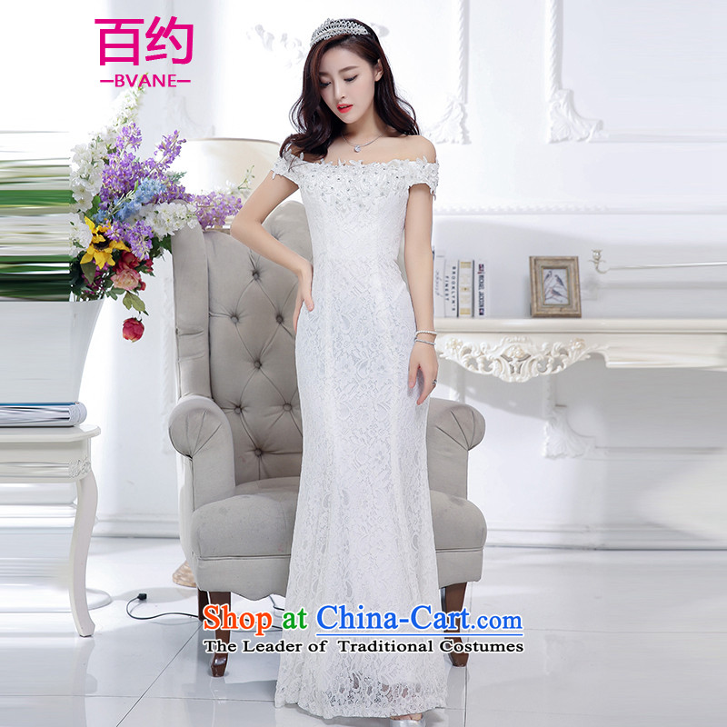 About the�New 2015, hundreds of winter clothing Korean Foutune of video thin dresses dress female long white gown banquet bride�S
